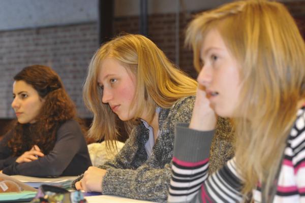 Mélanie Sedda, Amandine Levecq & Sophie Rosu<br />(Photo P. Dupont)